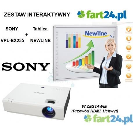 Zestaw interaktywny NEWLINE z SONY SX226